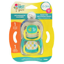 2 pack first years newborn orthodontic pacifier 0 3 months design 2 count walmart