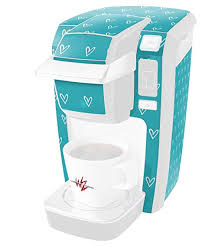 keurig mini aqua. Simple Mini Hearts Teal  Decal Style Vinyl Skin Fits Keurig K10  K15 Mini Plus Coffee  Makers In Aqua G