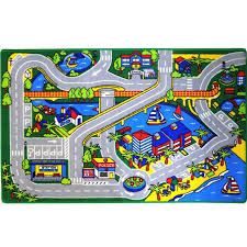kids rug harbor map 5 x 7 childrens fun learning carpet 59 x 82 com