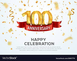 Anniversary Template 100 Years Anniversary Banner Template Royalty Free Vector