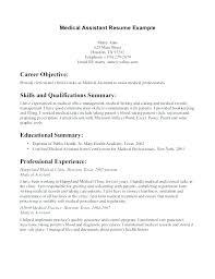 Free Sample Resume Medical Office Assistant Sample Medical Office