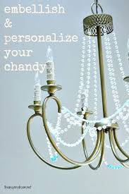 chandelier beads how to embellish and personalize a simple chandelier so easy but big improvement glass