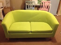 lime green argos tub sofa two seater brand new condition velvet