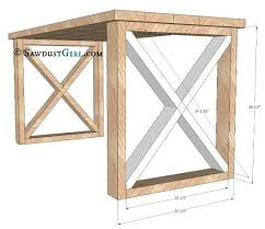 office furniture plans. x leg desk plans and tutorial from sawdust girl office furniture i