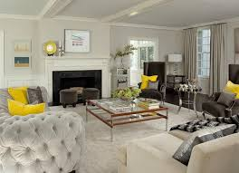 contemporary living room gray sofa set. Yellow And Gray Living Room With Light Velvet Tufted Curved Sofa Contemporary Set 2
