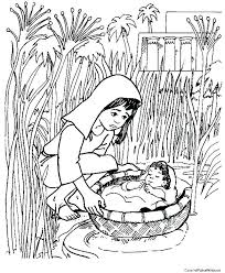 Baby Moses Coloring Page Pages Printable Chronicles Network