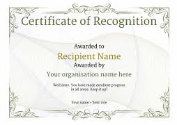 certificate of recognition templates certificate of recognition use free templates by awardbox