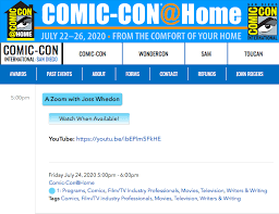 With marvel mcu skipping the event & dc fandome. The Nevers A Comic Con Zoom With Joss Whedon On 24th July Tom Riley