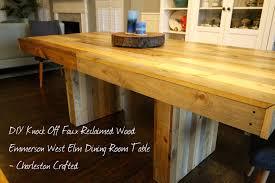 diy furniture west elm knock. Wonderful Furniture Dining Room Licious West Elm Emmerson Table Diy Knock Off U2022 Charleston  Crafted Jensen And On Furniture N
