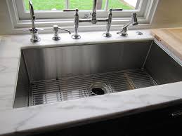 stainless steel sink racks ampquot whitehaven: kraus stainless steel farmhouse kitchen sink chrome faucet