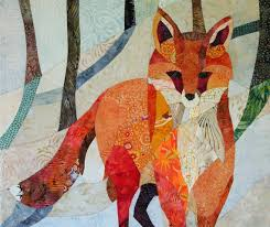 Red Fox in the Snow Quilt Fabric Art | Street Art & Other Art ... & Red Fox in the Snow Quilt Fabric Art Adamdwight.com