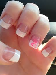 Browning Symbol Nail Designs Pink Browning Symbol On French Tip Prom Nails Simple