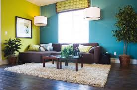 Living Room:Tasteful Blue And Green Living Room Ideas With Drum Pendant  Lighting And Brown