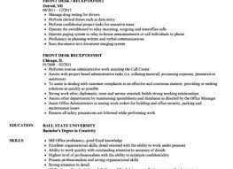 Receptionist Resume Beauteous Front Desk Receptionist Resume Sample Best Of Front Desk