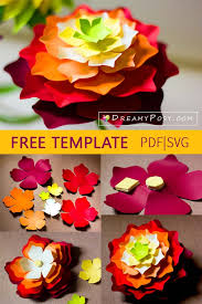 Cut out your giant rose design. Flower Templates Free Pdf Svg Png Files Super Easy Tutorial