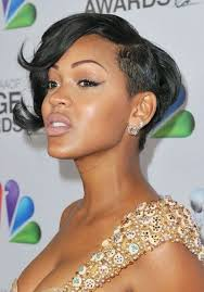 meagan good short hairstyles trendy haircut for black women