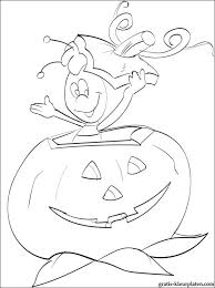 Maya De Bij In Grote Pompoen Halloween Gratis Kleurplaten
