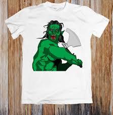 Fantasy Orc Swinging Axe Unisex T Shirt