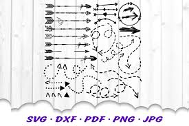 Free transparent dotted line vectors and icons in svg format. Arrow Dotted Dashed Hand Drawn Svg Dxf Cut Files Bundle 545666 Cut Files Design Bundles