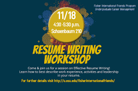 Resume Writing Workshop Poster Resumejuly Jobsxs Com