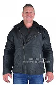 black kam harley leather biker jacket 2xl 3xl 4xl 5xl 6xl 7xl 8xl