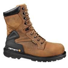 Designer Steel Toe Boots Carhartt Core Mens 10w Bison Brown Leather Waterproof Steel