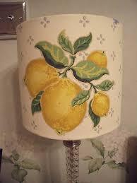 Handmade Drum Lampshade Laura Ashley Lemon Grove vintage fabric 20cm | eBay