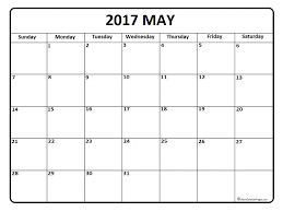 calendar for the month of may may 2017 calendar may 2017 calendar printable