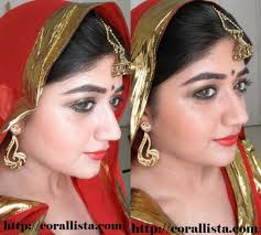 indian bridal makeup tutorial 3 traditional antique gold and red