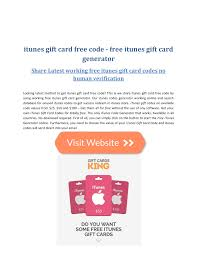 pdf get itunes gift card free working codes list