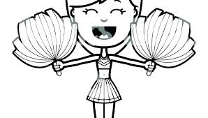 Cheerleader Coloring Pages Free Printable Uniform To Print Colouring