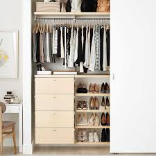 best overall white birch small elfa décor reach in closet