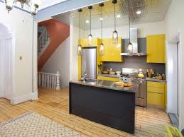 Yellow And Brown Kitchen Outstanding Small Kitchen Renovation Ideas With Natural Brown