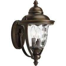 hampton bay prestwick collection 2 light oil rubbed bronze outdoor wall lantern