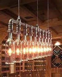 bottle chandelier pottery barn