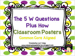 5 W S Anchor Chart 5 W Questions Plus How Freebie Conversations In Literacy