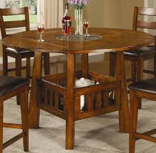 coaster lavista round square counter height table with lazy susan