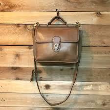 vintage coach willis satchel messenger bag vtg rugged camel tan leather cross purse briefcase handbag made in usa 9927 rzrofxtaxf
