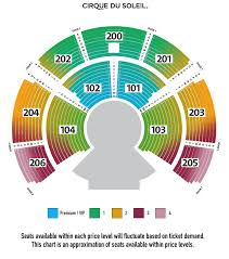 Cirque Du Soleil Redmond Seating Chart Prototypal The Grand Chapiteau Toronto Seating Chart Amaluna