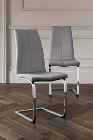 Buy Set Of 2 Opus <b>Cantilever Dining Chairs</b> With Chrome Legs from ...