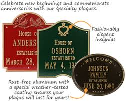home address plaques. Bayou Vista Architectural House Number \u0026 Lawn Plaques; Reflective Address Plaques Home