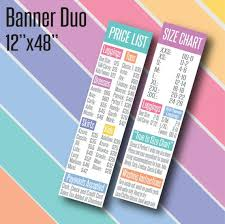 Printed Llr Banners 4 Llr Price List And Size Chart