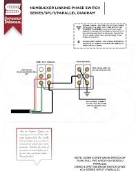 view all seymour duncan part  humbucker linking phase switch and series split parallel diagram