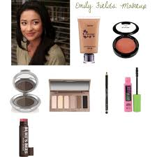 list of makeup that can be used to recreate the makeup look of emily fields from