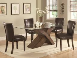 Dining Room Cool Dining Room Sets Have Glass Top Dining Table Wooden Legs 6  Chairs With Discount
