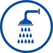 shower head clipart. Plain Clipart Shower Head Icon Blue Sign With Shower And Head Clipart O