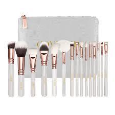 makeup brushes set. white rose makeup complete brush set brushes