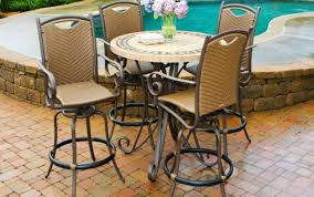 outdoor stools chairs rattan top high garden coast and chair bar table set gloss stunning round