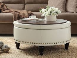 lovely round coffee table ottoman with best 25 leather ottoman coffee table ideas on home furnishings leather