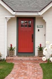 front door trimInterior front door trim ideas entry traditional with red door